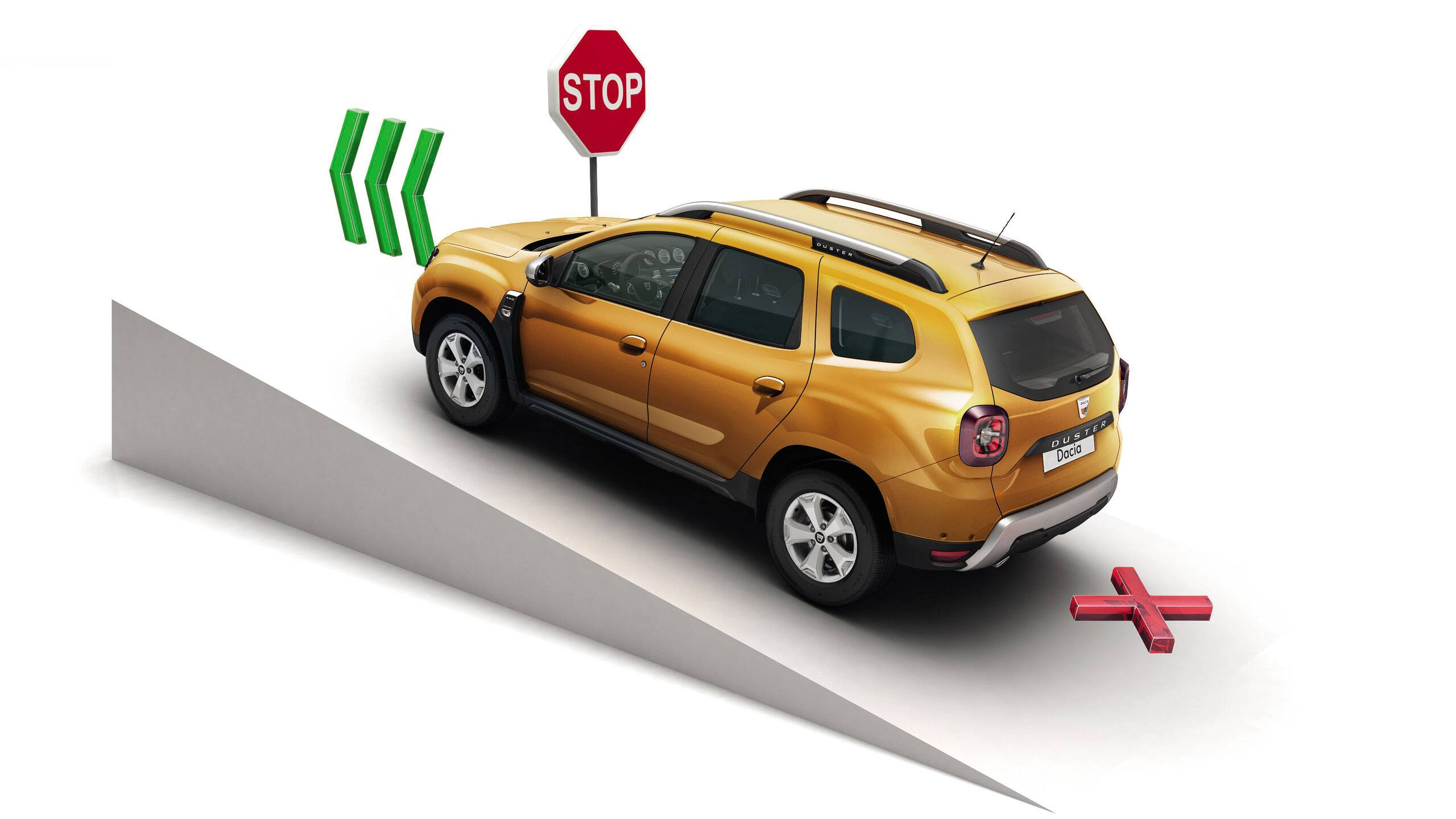 Помощна система за подпомагане на потеглянето по наклон и система, контролираща скоростта при спускане по наклон