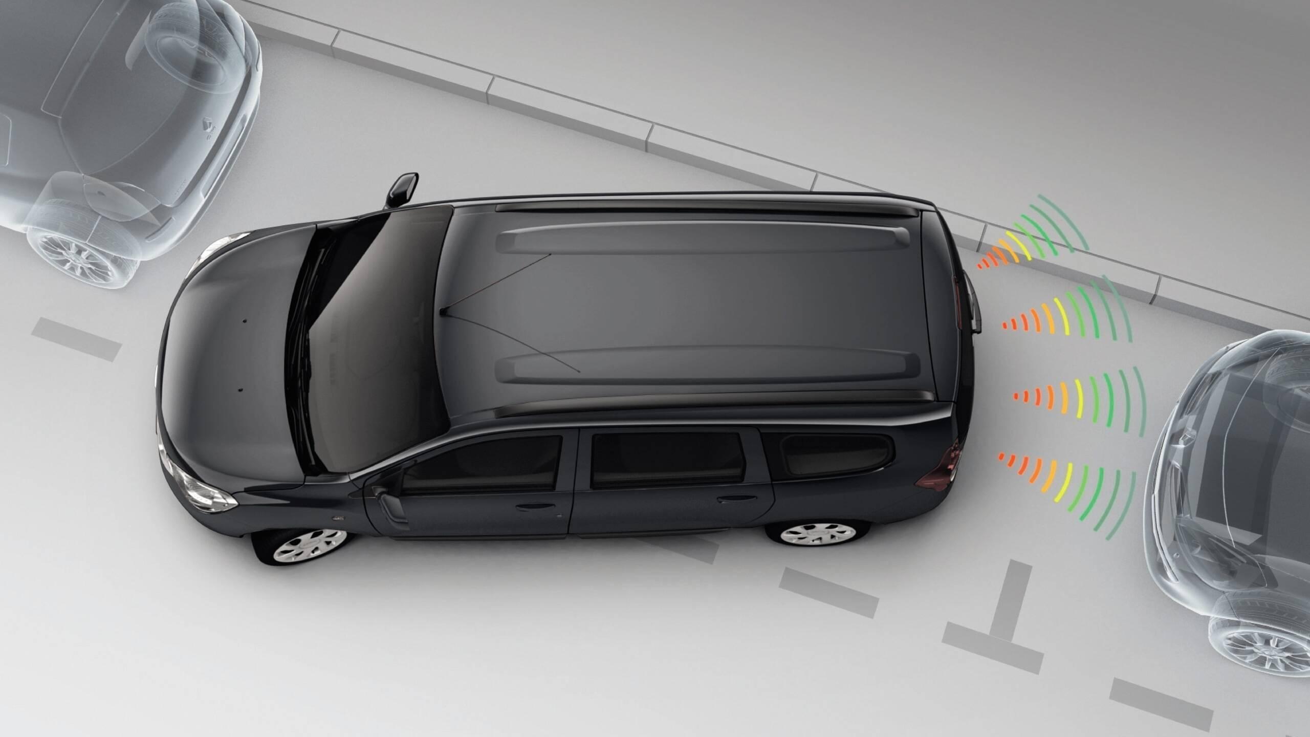 Система за управление на паркирането на заден ход с камера за задно виждане