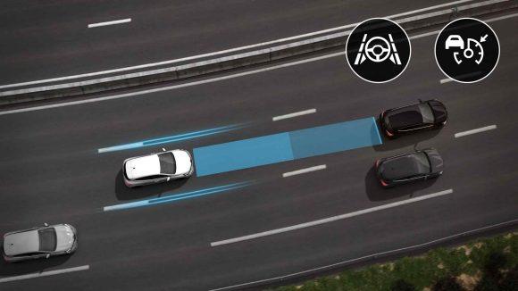 Система за автоматично поддържане на скоростта и движение в лентата