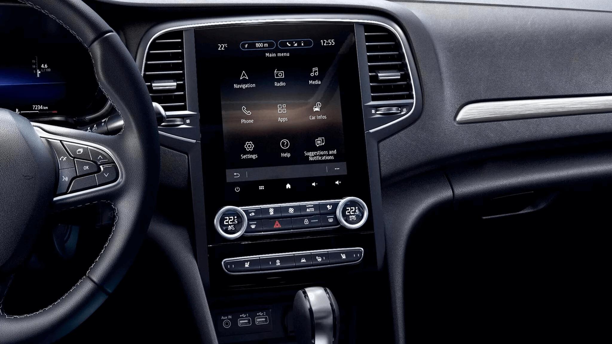 Мултимедийната система и нейният 9,3-инчов екран